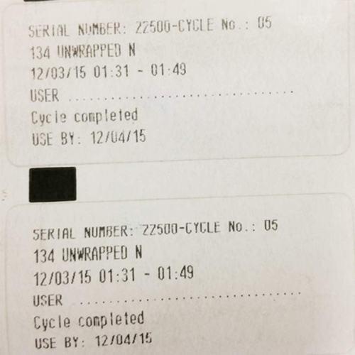 Cominox Sterilabel Printer Labels