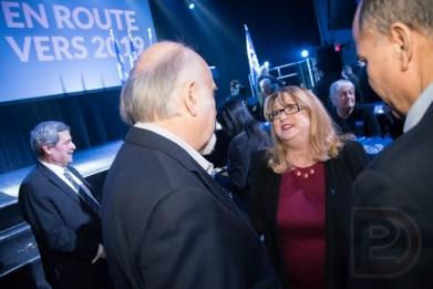 Carole Poirier, députée du Parti Québécois (PQ) dans Hochelaga-Maisonneuve, et Gilbert Paquette