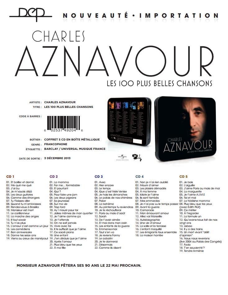 Charles Aznavour - Les 100 plus belles chansons