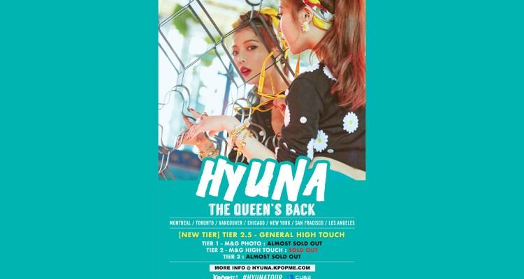 Hyuna à Montréal