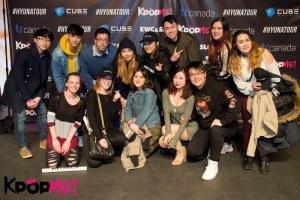 Photo de groupe avec Hyuna