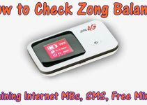 How to Zong Balance Check Code