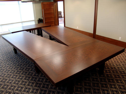 V Shaped Boardroom Table