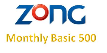 Zong Monthly Basic 500 Bundle