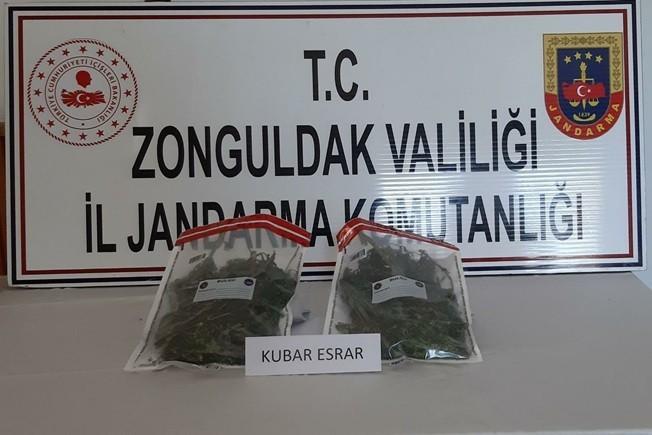Zonguldak'ta uyuşturucu operasyonu: 500 gram kubar esrar ele geçirildi