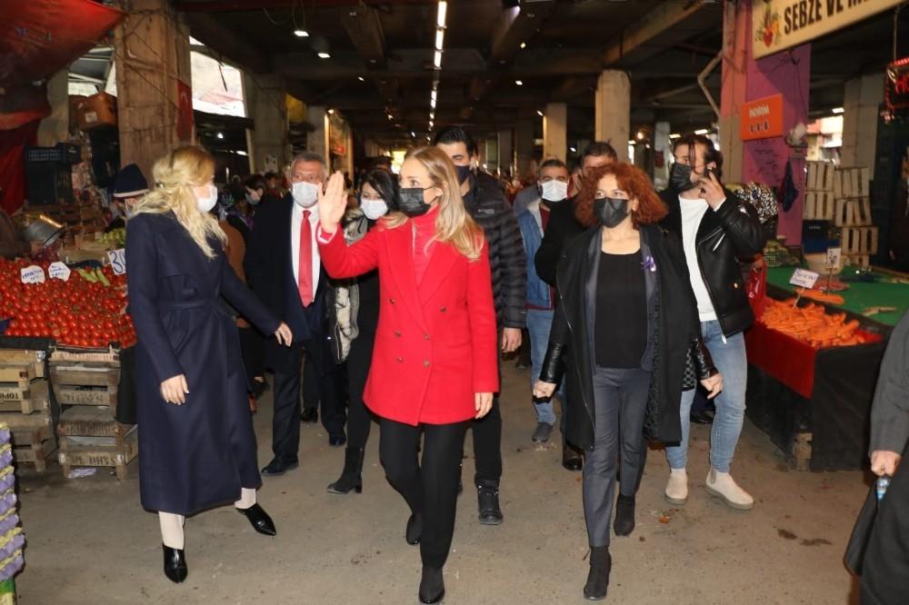 CHP Kadın Kolları Genel Başkanı Aylin Nazlıaka Zonguldak'ta