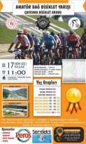 Amatör dağ bisikleti yarışması düzenleniyor