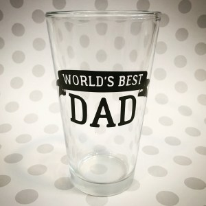 world's best dad pint glass beer