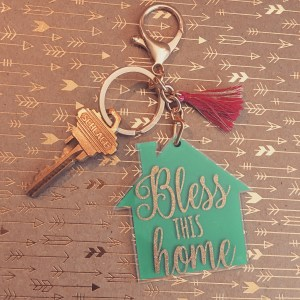 bless this home keychain