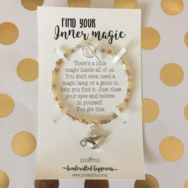Inner Magic bracelet with genie lamp charm by zoo&roo