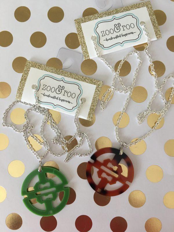 necklaces round acrylic pendants