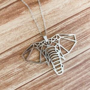 gentle giant origami elephant necklace