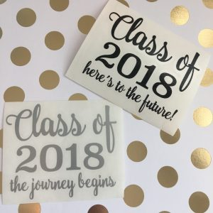 class of 2018 vinyl decal