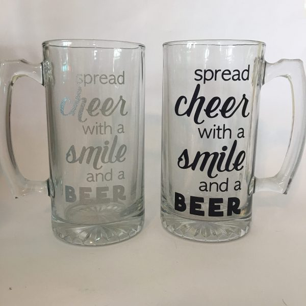 cheer smile beer mug