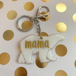 polar bear keychain by zoo&roo