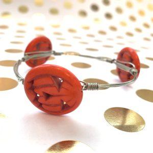 pumpkin wire wrapped bracelet