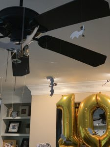 winged keys hung from ceiling