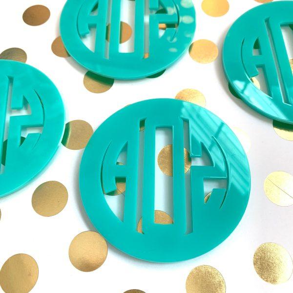 monogrammed coasters
