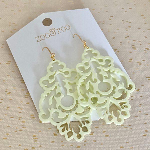 chandelier statement earrings pastel