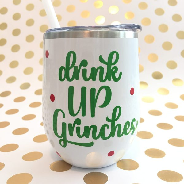 drink up grinches stainless wine tumbler