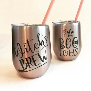 Halloween stainless wine tumblers