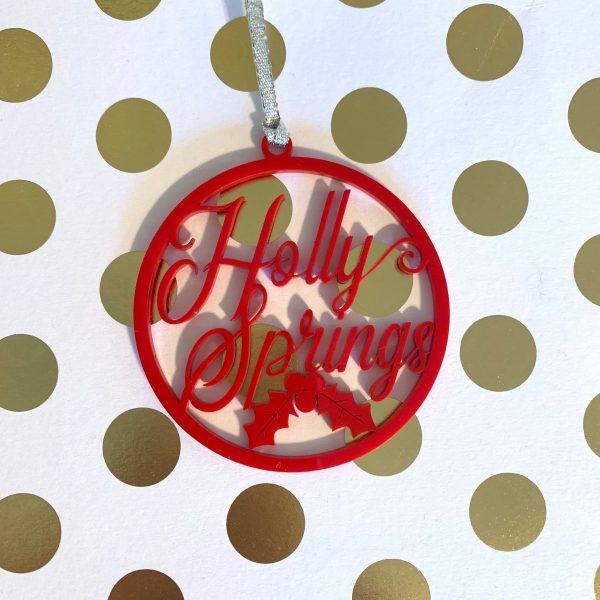 Holly Springs ornament