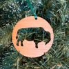 buffalo cut out wood ornament