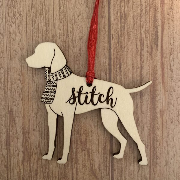 German shorthaired pointer dog breed wood ornaments