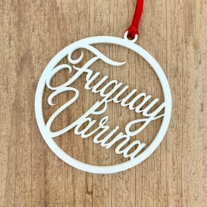 Fuquay varina ornament white