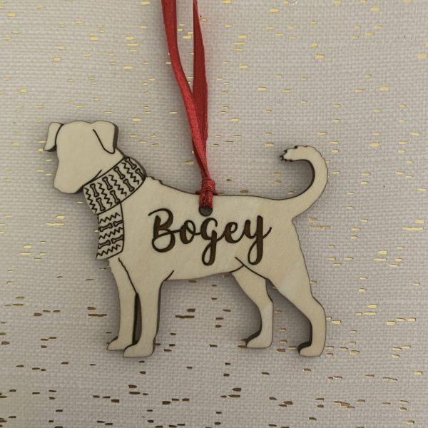 Mutt personalized dog ornament