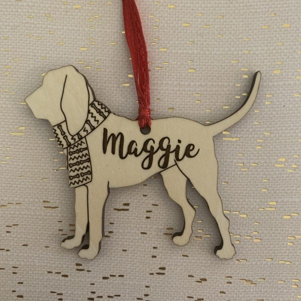 bloodhound custom dog breed ornament