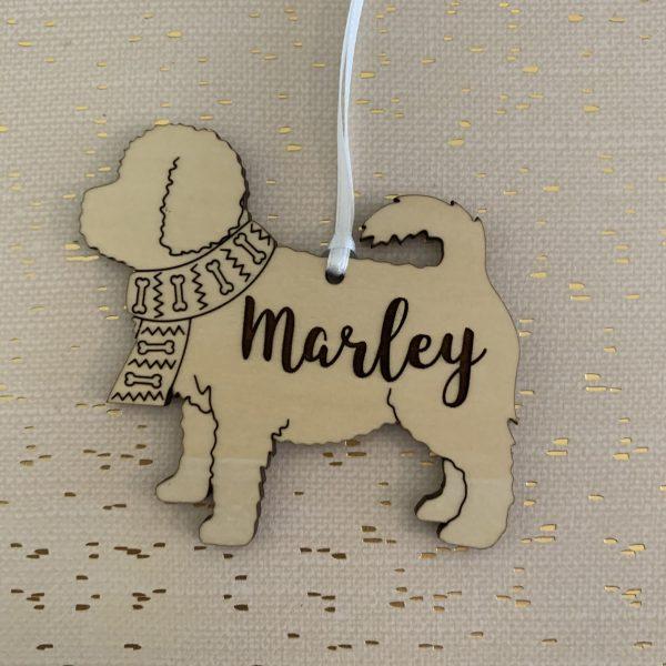 Maltipoo custom dog breed ornament