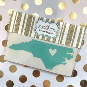 NC heart decal mint