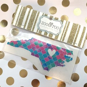 NC heart decal mermaid scales