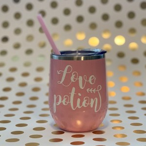 love potion stainless wine tumbler