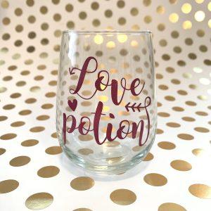 love potion wine glass