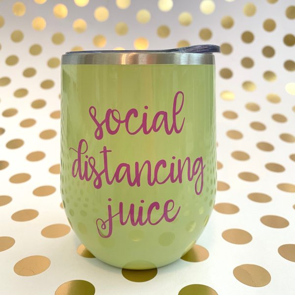 social distancing juice orchid on matcha green