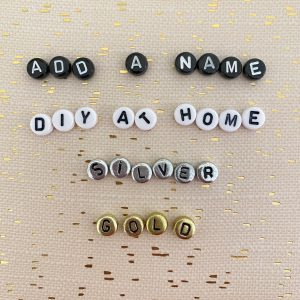 add a name DIY letter beads