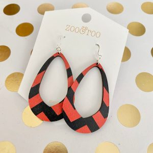 October Olivia halloween chevron earrings
