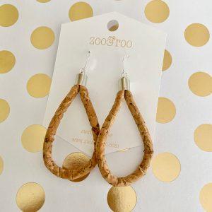 montado cork cord earrings