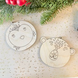 penguin and polar bear DIY ornaments