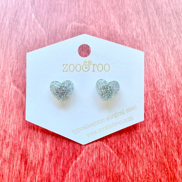 heart fairy dust studs