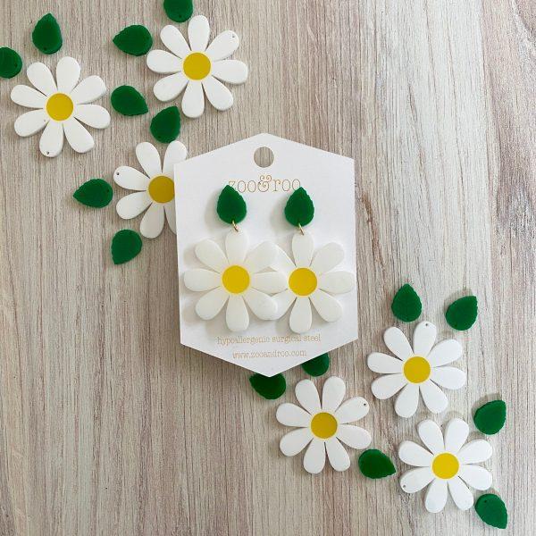 whoopsie daisy acrylic earrings