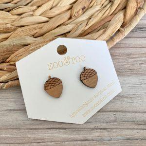 handmade acorn earrings