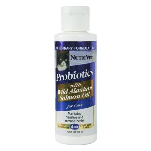 Nutri-Vet Probiotics Salmon Oil ПРОБИОТИКИ С МАСЛОМ ЛОСОСЯ добавка для кошек, 118 мл