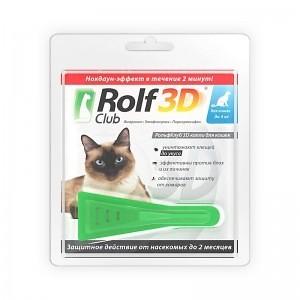 RolfClub 3D капли для кошек до 4 кг