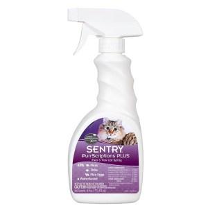 Sentry Purrscriptions Plus Спрей от блох и клещей для кошек