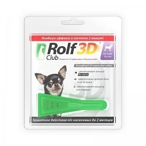 Rolf Club 3D капли от блох и клещей для собак до 4 кг