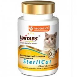 Unitabs STERILCAT — витаминно-минеральная добавка для кастрированных котов и стерилизованных кошек (таблетки)