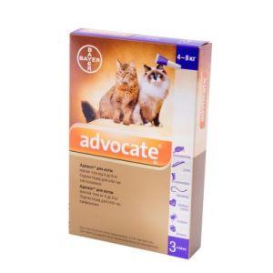 Адвокат (Advocate Bayer) для кошек весом 4-8 кг, 3 пипетки
